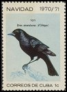 Cl: Cuban Blackbird (Dives atroviolacea) <<Toti>>  SG 1810 (1970) 20 [3/7]
