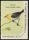 Cl: Yellow-headed Warbler (Teretistris fernandinae) <<Chillina>>  SG 1814d (1970) 35 [3/7]
