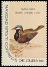 Cl: Blue-headed Quail-Dove (Starnoenas cyanocephala) <<Paloma perdiz>>  SG 1815c (1970) 90 [3/7]