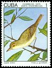 Cl: Cuban Vireo (Vireo gundlachii) <<Juan Chivi>> (Endemic or near-endemic)  SG 2214 (1975) 25