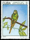 Cl: Cuban Parakeet (Aratinga euops) <<Caley>> (Endemic or near-endemic)  SG 2216 (1975) 25