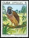 Cl: Blue-headed Quail-Dove (Starnoenas cyanocephala) <<Paloma perdiz>> (Endemic or near-endemic)  SG 2217 (1975) 50