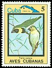 Cl: Cuban Grassquit (Tiaris canora)(Endemic or near-endemic)  SG 2960 (1983) 60