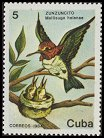 Cl: Bee Hummingbird (Mellisuga helenae) <<Zunzuncito>> (Endemic or near-endemic)  SG 3046 (1986) 65 [3/21]