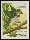 Cl: Cuban Tody (Todus multicolor) <<Cartacuba>> (Endemic or near-endemic)  SG 3048 (1986) 275 [3/21]