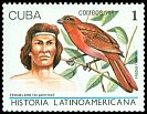 Cl: Red-crowned Ant-Tanager (Habia rubica)(Out of range and no other stamp)  SG 3276 (1987) 20