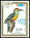 Cl: West Indian Woodpecker (Melanerpes superciliaris)(Repeat for this country)  SG 3638E (1991)