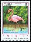 Cl: Caribbean Flamingo (Phoenicopterus ruber) <<Flamenco>> (Repeat for this country)  SG 3850 (1993) 10