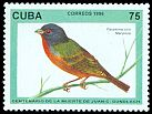 Cl: Painted Bunting (Passerina ciris) <<Mariposa>> (Repeat for this country)  SG 4066 (1996) 95