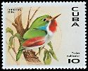 Cl: Cuban Tody (Todus multicolor)(Endemic or near-endemic)  SG 4079 (1996)  [4/22]