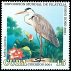 Cl: Grey Heron (Ardea cinerea)(Out of range)  SG 4469 (2001)