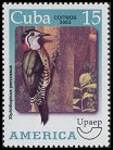 Cl: Cuban Woodpecker (Xiphidiopicus percussus)(Endemic or near-endemic)  SG 4696 (2003)  [3/5]