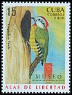 Cl: Cuban Woodpecker (Xiphidiopicus percussus)(Endemic or near-endemic)  SG 5215 (2008)  [4/55]