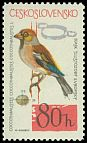 Cl: Hawfinch (Coccothraustes coccothraustes) <<dlask tlustozoby>>  SG 1448 (1964) 20