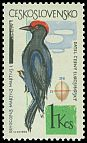 Cl: Black Woodpecker (Dryocopus martius) <<datel cerny>>  SG 1449 (1964) 40