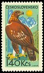 Cl: Golden Eagle (Aquila chrysaetos) <<Orol Skalny>>  SG 1522 (1965) 25