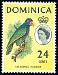 Cl: Imperial Parrot (Amazona imperialis) <<Sisserou Parrot>> (Endemic or near-endemic)  SG 173 (1963) 20 [3/9]
