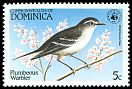 Cl: Plumbeous Warbler (Dendroica plumbea) SG 870 (1984) 160