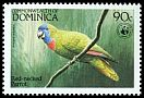 Cl: Red-necked Parrot (Amazona arausiaca)(Endemic or near-endemic)  SG 873 (1984) 500