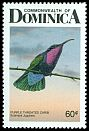 Cl: Purple-throated Carib (Eulampis jugularis)(Repeat for this country)  SG 1046 (1987) 65