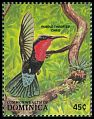 Cl: Purple-throated Carib (Eulampis jugularis)(Repeat for this country)  SG 1133 (1988) 50