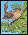 Cl: Brown Trembler (Cinclocerthia ruficauda)(Endemic or near-endemic)  SG 1135 (1988) 50