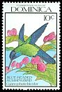 Cl: Blue-headed Hummingbird (Cyanophaia bicolor)(Endemic or near-endemic)  SG 1364 (1990) 35
