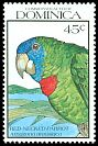 Cl: Red-necked Parrot (Amazona arausiaca)(Endemic or near-endemic)  SG 1366 (1990) 65