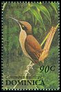 Cl: Brown Trembler (Cinclocerthia ruficauda)(Endemic or near-endemic)  SG 1676 (1993) 70