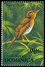 Cl: Forest Thrush (Cichlherminia lherminieri)(Endemic or near-endemic)  SG 1677 (1993) 70