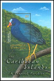 Cl: Purple Gallinule (Porphyrio martinica) SG 3127a (2001)