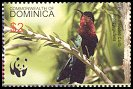 Cl: Purple-throated Carib (Eulampis jugularis)(Repeat for this country)  SG 3415 (2005)  [3/41]
