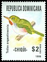 Cl: Narrow-billed Tody (Todus angustirostris) <<Chiqui>> (Endemic or near-endemic)  SG 1977 (1996) 120