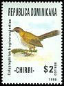 Cl: Eastern Chat-Tanager (Calyptophilus frugivorus tertius) <<Chirri>> (Endemic or near-endemic)  SG 1991 (1996) 120