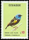 Cl: Blue-necked Tanager (Tangara cyanicollis) <<Sigcha Luis Felipe>>  SG 1540 (1973) 170