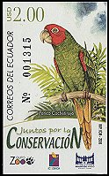 Cl: Red-masked Parakeet (Aratinga erythrogenys) <<Perico Cachetirojo>>  new (2006)  [4/1]