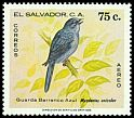 Cl: Slate-coloured Solitaire (Myadestes unicolor) <<Guarda Barranco Azul>>  SG 1647 (1980) 60
