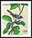 Cl: Red-faced Warbler (Cardellina rubrifrons) <<Chipe de cara rojiza>>  SG 1864 (1984) 150