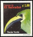 Cl: Emerald Toucanet (Aulacorhynchus prasinus) <<Tucan verde>> (Repeat for this country)  SG 2526 (2000) 35