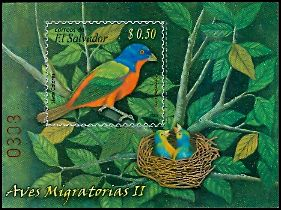 Cl: Painted Bunting (Passerina ciris)(Repeat for this country)  SG 2805 (2007) 100 [4/39]