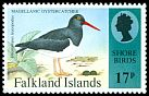 Cl: Magellanic Oystercatcher (Haematopus leucopodus)(Repeat for this country)  SG 733 (1995) 125