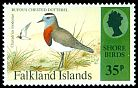 Cl: Rufous-chested Dotterel (Charadrius modestus) SG 734 (1995) 175