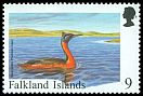 Cl: Great Grebe (Podiceps major)(Repeat for this country)  SG 807 (1998) 225