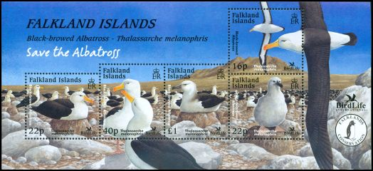 Cl: Black-browed Albatross (Thalassarche melanophris)(Repeat for this country)  SG 971 (2003) 1600 [6/32]