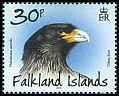 Cl: Striated Caracara (Phalcoboenus australis)(Endemic or near-endemic) (I do not have this stamp)  SG 1252 (2013)  [8/18]