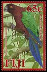 Cl: Red Shining-Parrot (Prosopeia tabuensis koroensis)(Endemic or near-endemic)  SG 1393 (2008)