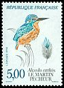 Cl: Common Kingfisher (Alcedo atthis) <<Martin-pecheur>> (Repeat for this country)  SG 3042 (1991) 200 [3/17]