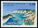 France 4F50 issued in 1997 showing a Manx Shearwater