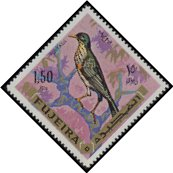 Cl: Yemen Thrush (Turdus menachensis)(Out of range and no other stamp) (not catalogued)  (1969)  [3/23]