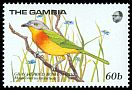Cl: Grey-headed Bushshrike (Malaconotus blanchoti) SG 869 (1989) 140